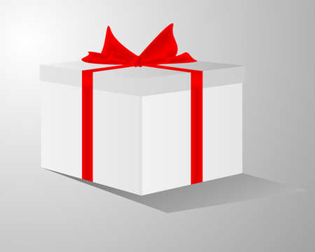 Greeting card with gift box and copy space Vector