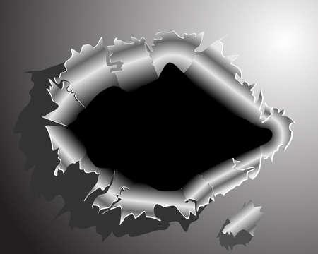 malla metalica: Despu�s de romper a trav�s del metal Vectores