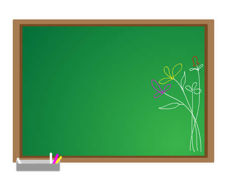 Flowers on the blackboard  Vector