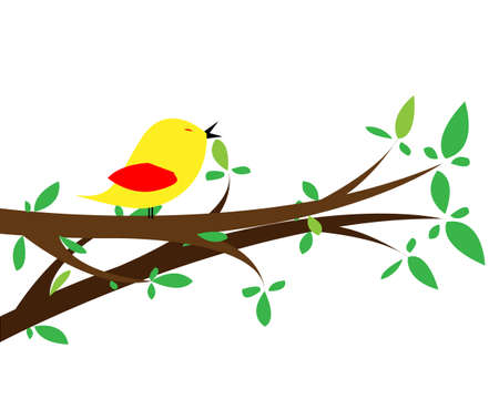 Nice beautiful birds in love  Isolated picture for Your design Stock Vector - 14454248