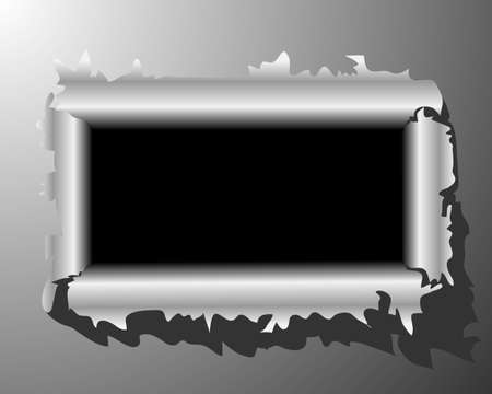 After tearing through the metal vector Stock Vector - 14454273