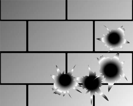 Bullet hole vector Stock Vector - 14501088