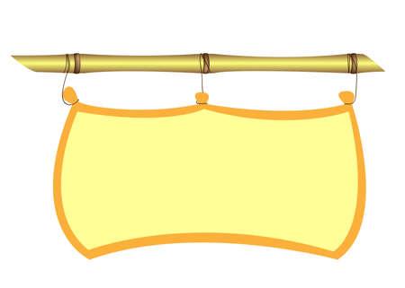 bamboo border: Bamboo frame  Illustration