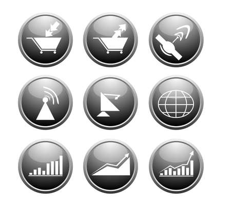 business icons, vector  Vector
