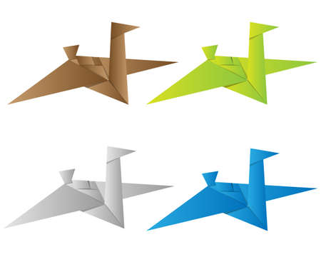 paloma de la paz: Vector origami, pájaro de papel