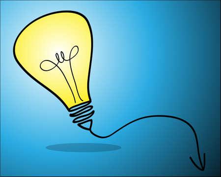 clip art draw: Bulb light idea vector illustration