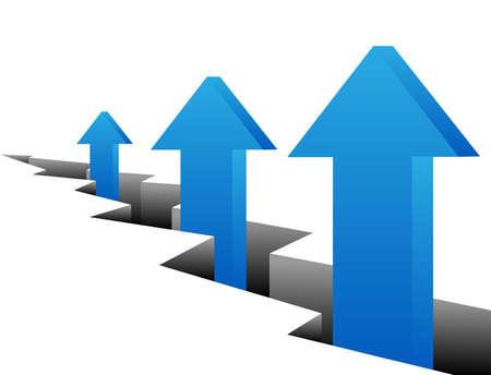 화살표 - 성장 개념 벡터 추상적 인 배경