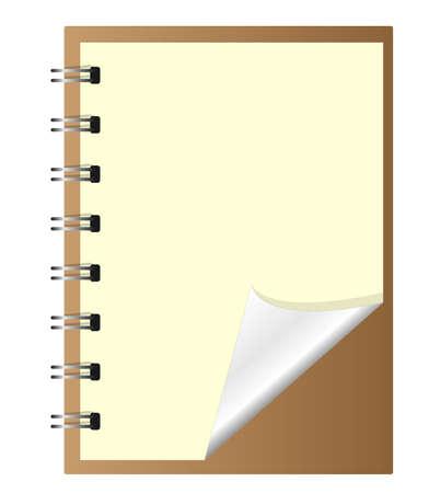 Old Brown Notebook Vector