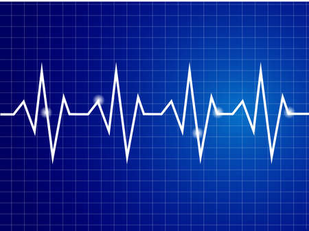 hjärtslag: Abstrakt hjärtat slår cardiogram illustration