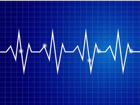 elettrocardiogramma: Astratto cuore batte illustrazione cardiogramma Vettoriali