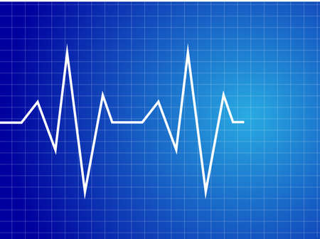 heart ecg trace: Abstract heart beats cardiogram illustration -   Illustration