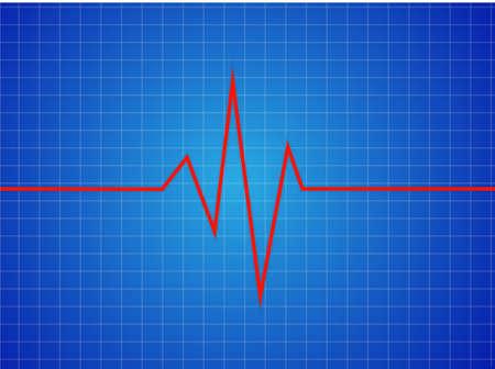 heart monitor: Abstract heart beats cardiogram illustration - vector  Illustration