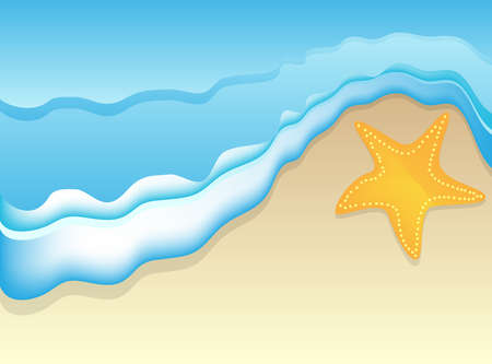 Background for design on sea subjects with a beach  Vector