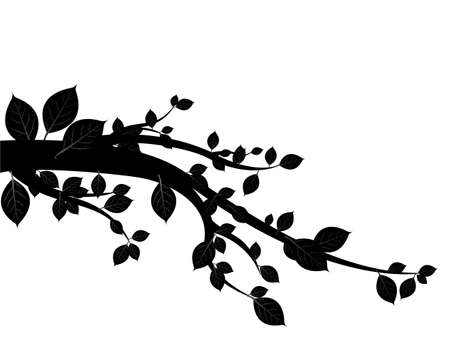 genealogical tree: black tree vector