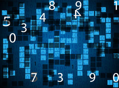 random: blue random numbers background illustration