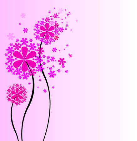 꽃 그림의 귀여운 꽃다발