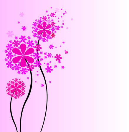 Cute bouquet of flowers   illustration  Vector