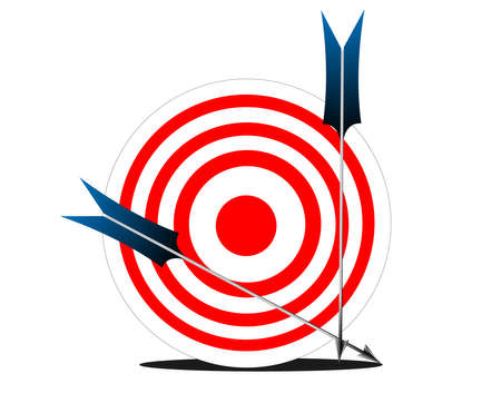 Target and Arrow Stock Vector - 14728621