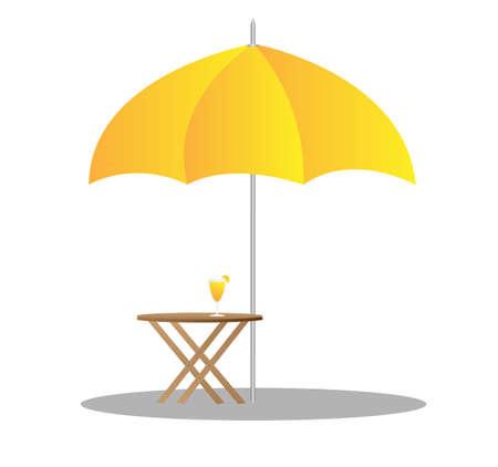 strandstoelen onder parasol 3d illustratie