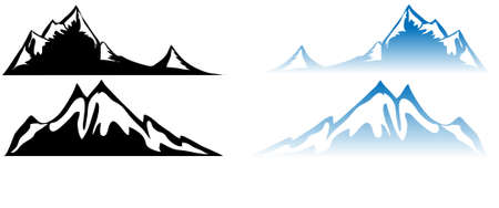 montañas nevadas: Montaña Reflexión del agua
