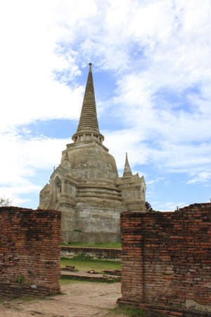 Old Siam Temple of Ayutthaya, Thailand (UNESCO word heritage)  photo