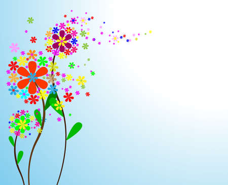 Cute bouquet of flowers. vector illustration Stock Vector - 14891355
