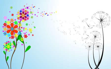 posterity: Flower vector dandelion