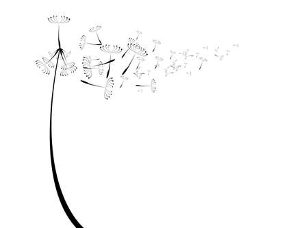 flying float: vector dandelion