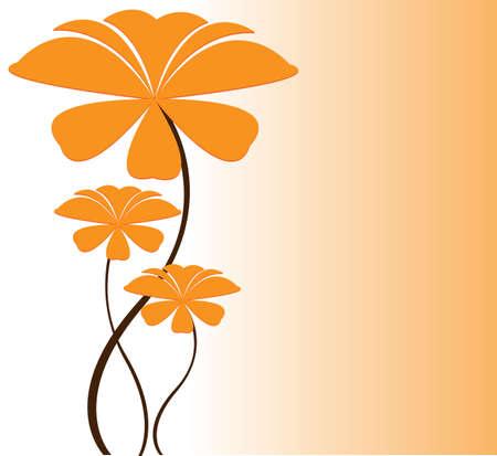 Mignon, floral, fond Banque d'images - 15008701