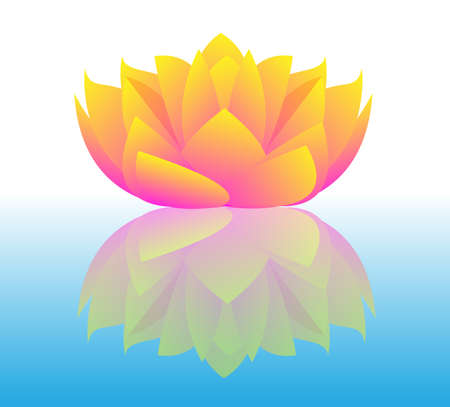 feng shui: Vector Lotus