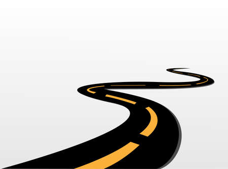 winding road: vector road  Illustration