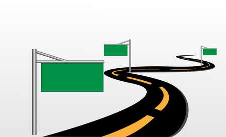 precipice: Road signs vector   Illustration