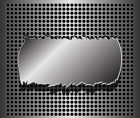 structure metal: Vector Metal Plate  Illustration