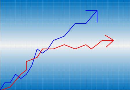 directive: growth progress blue arrow  Illustration