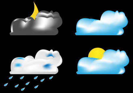 weather forecast icons Stock Vector - 15312458
