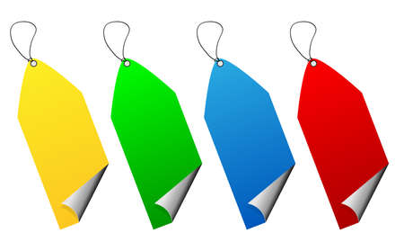 Set of multicolored format hanging banners Stock Vector - 15312449