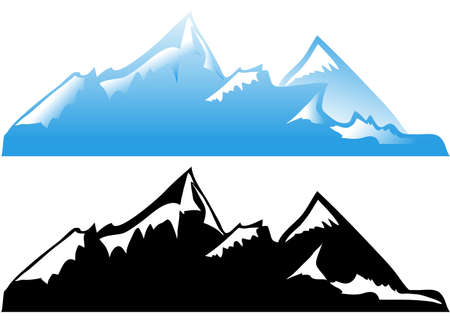 snow mountains: Mountain Illustration