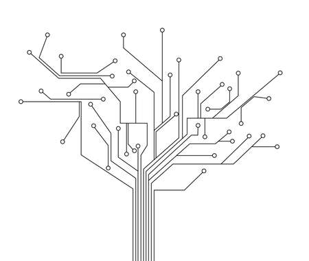 printed circuit board: circuit board tree background