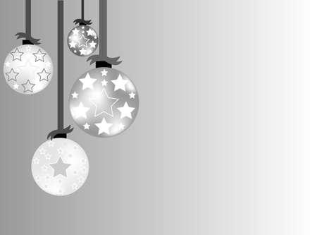 silver balls: Christmas ball