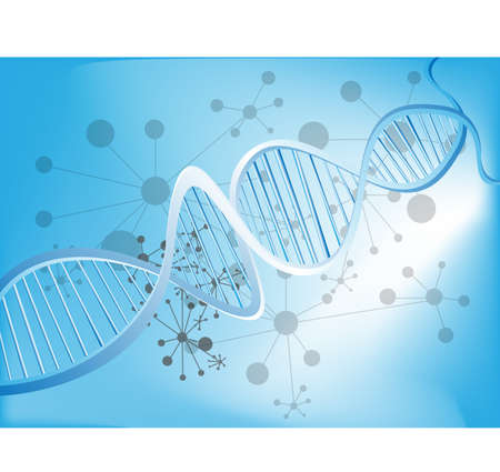 researches: Abstract medical background with colorful DNA  Illustration