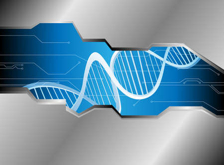 Abstract medical background with colorful DNA  Vector