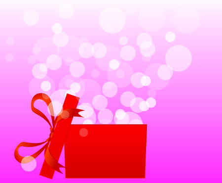 open gift box: Magic gift box with a big surprise - christmas