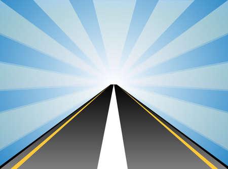 Straße Vektorgrafik