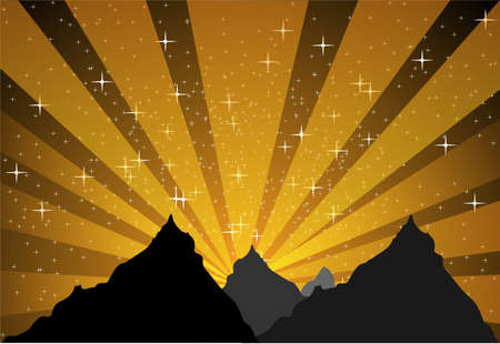 Mountain stellar light   Vector