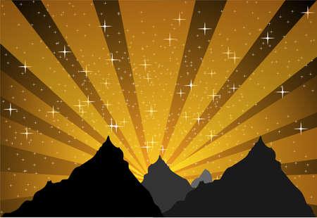 Mountain stellar light Stock Vector - 16128339