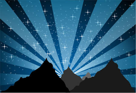 Mountain stellar light Stock Vector - 16128341
