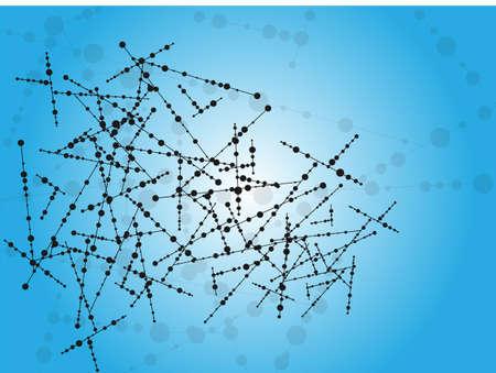 molecula de agua: Molécula fondo Vectores