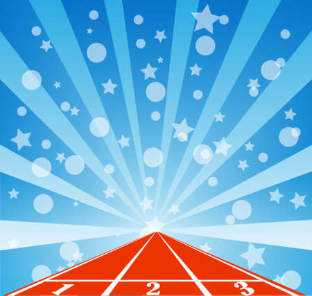 sprightly: Running track with raincloud