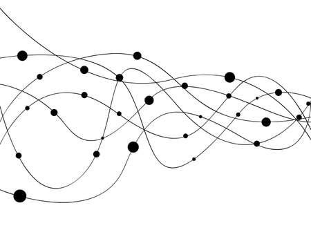 Molecule background  Illustration