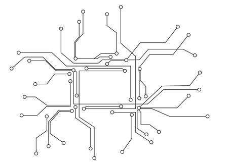 integrated: circuit board Digital background